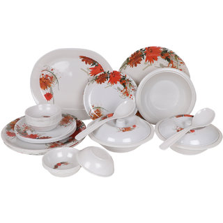 PALM'S Smily Pack of 32 Printed Dinnerset High Quality Melamine