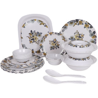 PALM'S Khushi Pack of 32 Printed Dinnerset High Quality Melamine