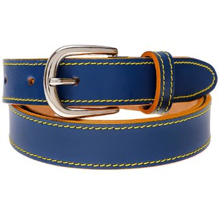 Gatasmay 100 % Genuine Leather Belt Girls Jeans And Dress Belt Color Blue