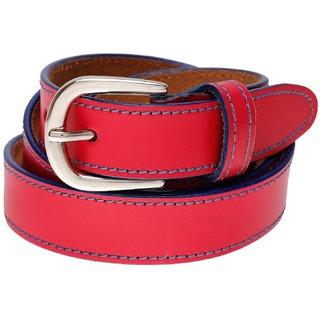 Gatasmay 100 % Genuine Leather Belt Girls Jeans And Dress Belt Color Pink