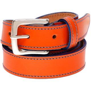 Gatasmay 100 % Genuine Leather Belt Girls Jeans And Dress Belt Color Orange
