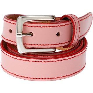 Gatasmay 100 % Genuine Leather Belt Girls Jeans And Dress Belt Color Light Pink