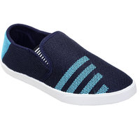 Zappy Mens Blue Lace-up Smart Casual Shoes