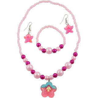 Angel Glitter The Mysterious Flower 3-Pcs Jewellery Set For Kids