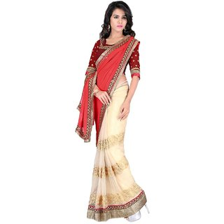 Bhuwal Fashion Multicoloured Chiffon Saree