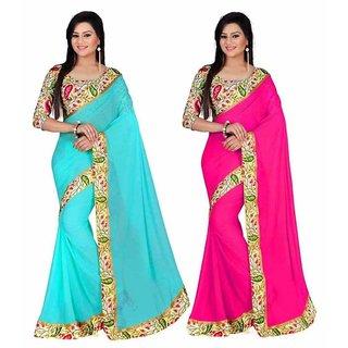 Bhuwal Fashion Multicoloured Bhagalpuri Silk Saree Combos