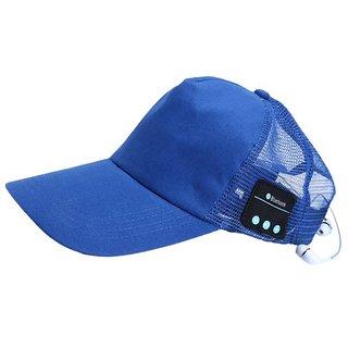 Jaiden Bluetooth Baseball Blue Cap SportHat HandsFree Wearable Smart Devices
