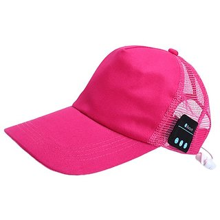 Rooq Bluetooth Baseball Pink Cap SportHat HandsFree Wearable Smart Devices