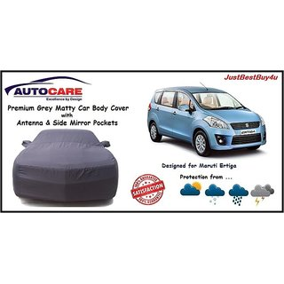 De AutoCare Grey Matty Car Body Cover with Mirror Pocket For Maruti Suzuki Ertiga