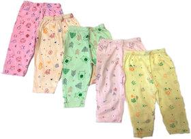 Unisex Bottom/ Pyjama/ Pant set for New Born Baby (Set of 5 Pcs)