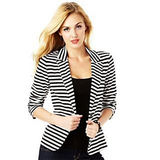 Raabta Fashion Strip Semi Winter Blazer for women