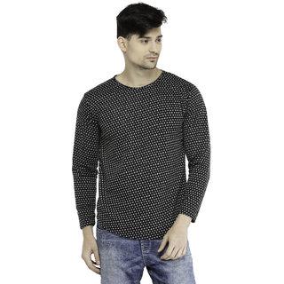 016a36f7d95 Buy Harvest Jacquard Full Sleeve BLACK Slim fit T-shirt For Men ...