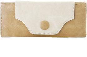 Fantosy Beige And Cream  Women'S Wallet