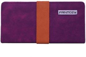 Fantosy Purple And Beige  Women'S Wallet