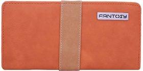 Fantosy Tan And Purple  Women'S Wallet