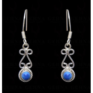 Turquoise Gemstone Studded Earring In .925 Silver Overlay