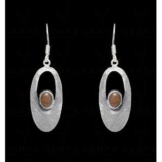 Labradorite Gemstone Studded Earring in .925 silver Overlay