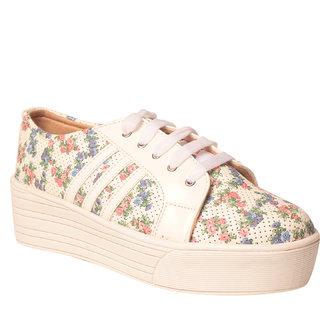 MSC Women Synthetic White Shoe