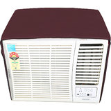 Glassiano Mehroon Colored waterproof and dustproof window ac cover for Onida POWER FLAT- WA183FLT 1.5 ton 3 star ac