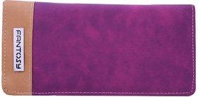 Fantosy Purple And Beige Women Wallet