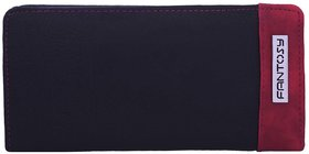Fantosy Black And Maroon  Women'S Wallet