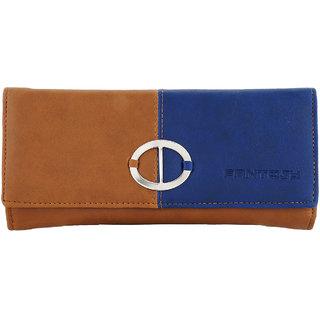 Fantosy Tan And Blue Women Wallet