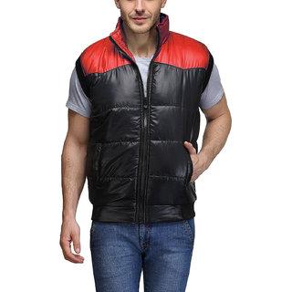 Motorev Men's Red,Black Solid Jacket