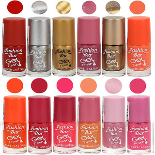 Fashion Bar Nail Polish Set - Pakc of 12