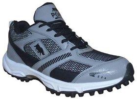 Port Men's Black Lace-up Cricket Shoes