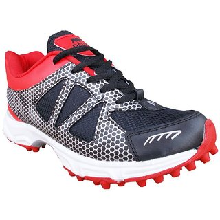 Port Mens Red Lace-up Cricket Shoes