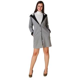 f8852ead017 Buy Texco Winter Long Full Sleeve Grey With Belt Over Coat Online ...