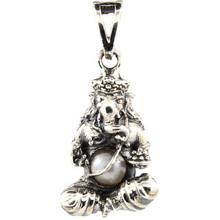 Be You Mesmerizing Ganesh ji Oxidised Plated Sterling Silver Locket