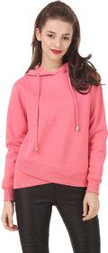 Texco Solid Pink Winter Sweatshirt