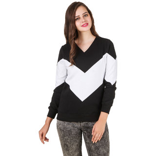 Texco Color Block Black Winter Sweat Shirt