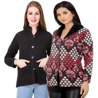 9eac054115b Buy Hardy s Collection Multicolor Solid Woolen Coats for women ...