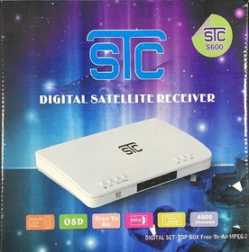 STC Free To Air S-600 Digital TV SD Set Top Box With 1 Year Warranty (LIFE TIME FREE)