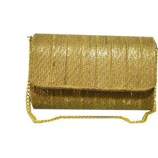 antique brass chain evening clutch