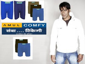 (PACK OF 10) Amul Comfy Men's Cotton Trunk/Underwear EXCLUSIVE BRANDED PRODUCT