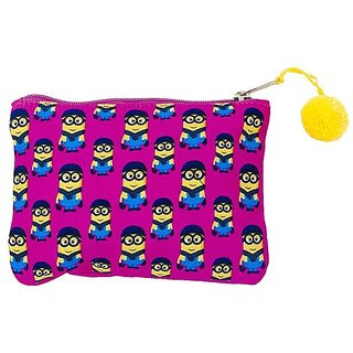 The Crazy Me Yellow Cartoon Utility Pouch