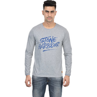 Dfh Men Grey Full Sleeves T Shirt