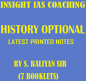 HISTORY OPTIONAL BALIYAN SIR Printed NOTES for IAS AND IPS