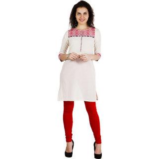 Aurelia Multicolor Plain Cotton Stitched Kurti