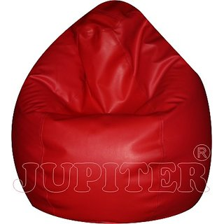 ECO XXL Bean Bags - Pear Shape - Red - Cover Only