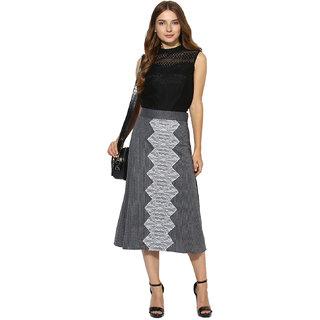 44b56e36ac39b5 Buy Soie Women's Black Lacy Sclape Crop Top Online - Get 0% Off