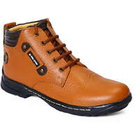 Red Chief Tan Lace Up Casual Shoes