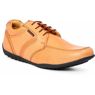 Red Chief Tan Lace Up Formal Shoes