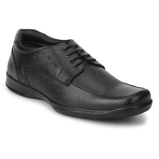 Red Chief Black Lace Up Formal Shoes
