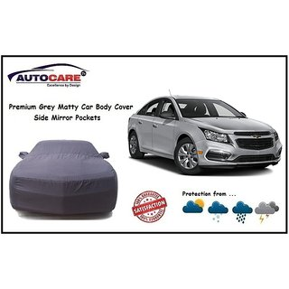 De AutoCare Grey Matty Car Body Cover With Mirror Pocket For Chevrolet Cruze