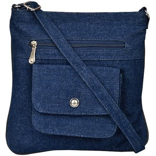 Exotique Women's Blue Sling Bag