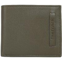 Fastrack Khaki Green Leather Wallet for Men